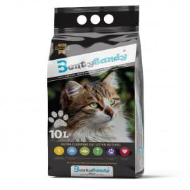 Litière chat 10L agglomérante aux minéraux bentonite ultra-absorbante Premium - Parfum Naturel - BentySandy