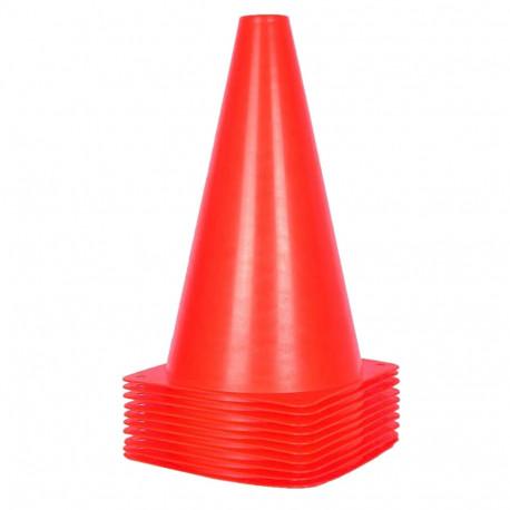 """10 cônes quilles Ht. 23 cm à base carrée 68 Gr """"spécial sport"""" - D-Work"""