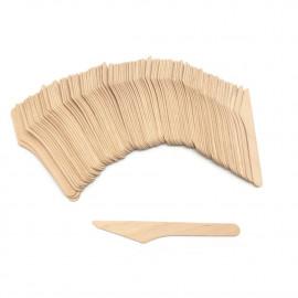 100 couteaux en bois jetables 24 x L. 165 mm, recyclable, biodégradable 100% Ecologique - 997071 - Beast