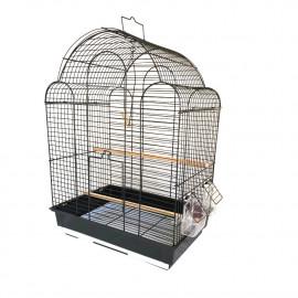 Cage à oiseaux déco équipée 42 x 30 x 57 cm - K55K - Happet