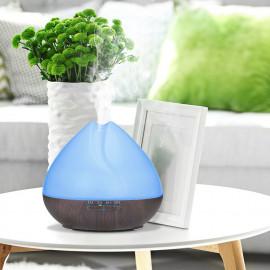 Diffuseur d' huiles essentielles ultrasonique 500ml 230V PEA Dark bluetooth, télécommande, 7 couleurs - D-Work