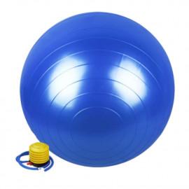 Ballon de gymnastique/ fitness anti-éclatement D. 65 cm en PVC (Bleu) + pompe de gonflage - D-Work