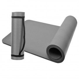 Tapis de sol gymnastique/ fitness / yoga 183 x 61 x 1 cm en NBR (Gris) - D-Work