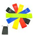 """5 bandes élastiques Latex pour fitness / musculation L. 600 x l. 50 mm """"spéciale renforcement musculaire"""" - D-Work"""