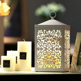 """Lampe chauffante pour bougie candle warmer """"CLARA 504"""" lampe GU10 230V à variateur pour bougie parfumée Ht. 16 cm - D-Work"""