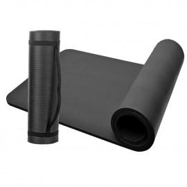 Tapis de sol gymnastique/ fitness / yoga 183 x 61 x 1 cm en NBR (Noir) - D-Work