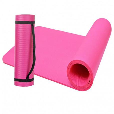 Tapis de sol gymnastique/ fitness / yoga 183 x 61 x 1 cm en NBR (Rose) - D-Work