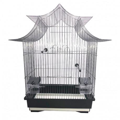 Cage à oiseaux design moderne équipée 51 x 32,5 x 58 cm - KS4 - WD-Impex