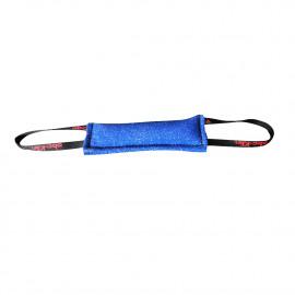 Boudin de rappel 25 x 8 cm en coton synthétique à 2 poignées pour sport canin - 059-BLUE - ABC Sport Klin