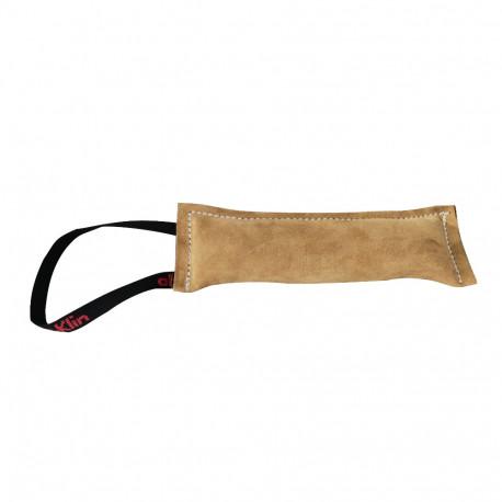 Boudin de rappel chiots 25 x 8 cm en cuir à poignée pour sport canin - 066-LIGHTBROWN - ABC Sport Klin