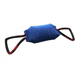 Coussin de mordant 24 cm à 3 fonctions en coton synthétique avec 2 poignées pour sport canin - 1112-BLUE - ABC Sport Klin