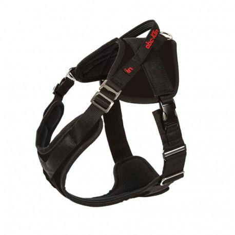 Harnais de travail à boucle Vero-plus pour chien taille M (68-85cm) avec poignée pour sport canin - 1148-BLACK - ABC Sport Klin