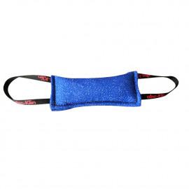 Boudin de débourrage chiots 25 x 10 cm en coton synthétique à 2 poignées pour sport canin - 4010-BLUE - ABC Sport Klin