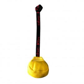 Balle de rappel/motivation triangulaire 90 mm en coton synthétique à poignée pour sport canin - 4013 - ABC Sport Klin