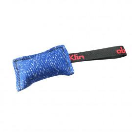 Mini boudin de rappel chiots 10 x 6 cm en coton synthétique à poignée pour sport canin - 4092-BLUE - ABC Sport Klin