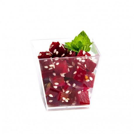 10 verrines carrées coniques 6 cl de 50 x 50 x Ht. 45 mm réutilisable, recyclable 100% Française - Transparent - D-Work